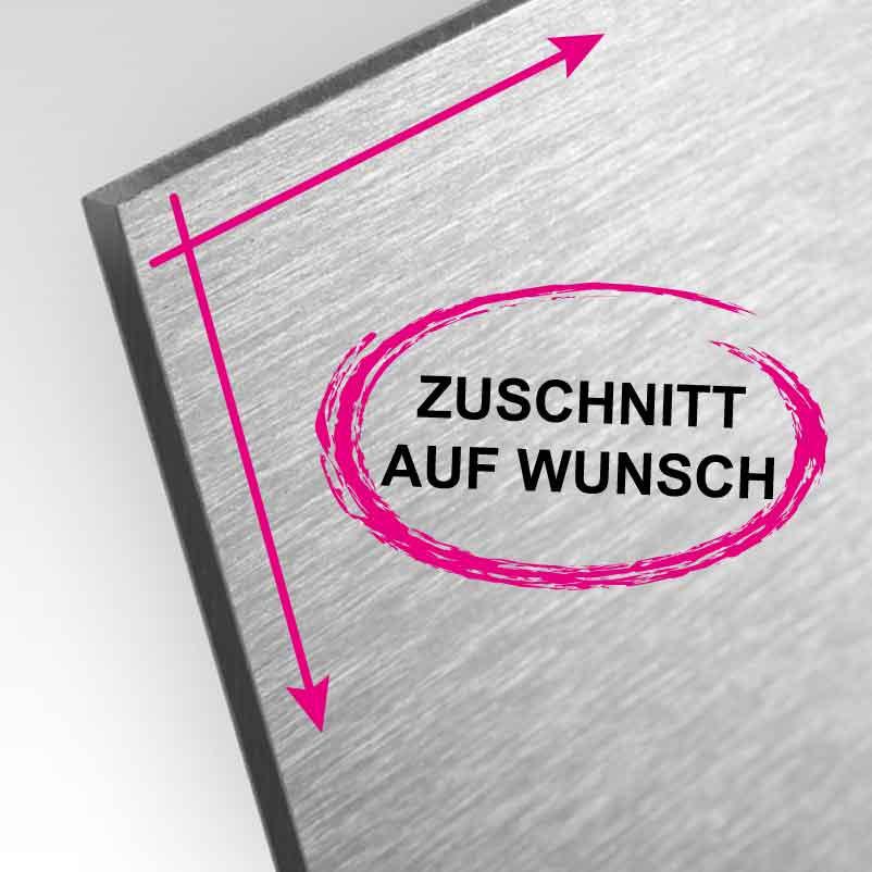 Alu-Verbund Butlerfinish-Platte | individuelle Größe