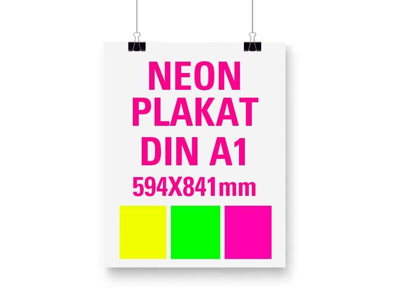 Neon Plakat DIN A1