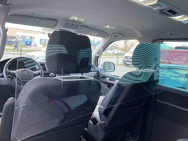 Schutzwand Taxi / Niesschutz / Spuckschutz