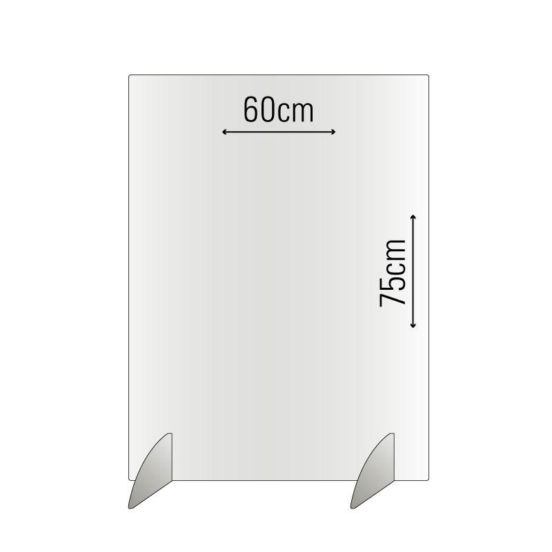 75x60 Spuckschutz / Niesschutz / Trennwand