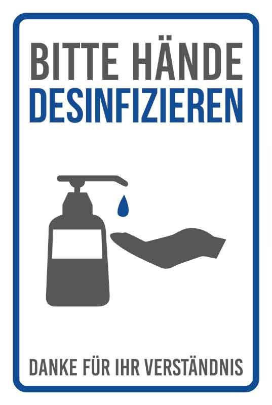 Desinfektionssäule – SET | Handdesinfektionsstation | Desinfektionsspender | Desinfektionsmittelstation