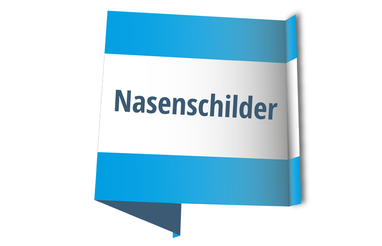 Faltschild / Nasenschild - 118x56cm