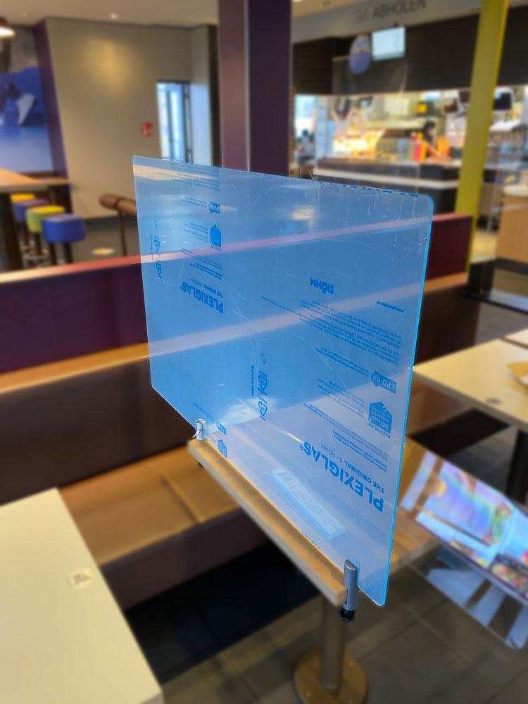 Spuckschutz für Tische / Restaurants
