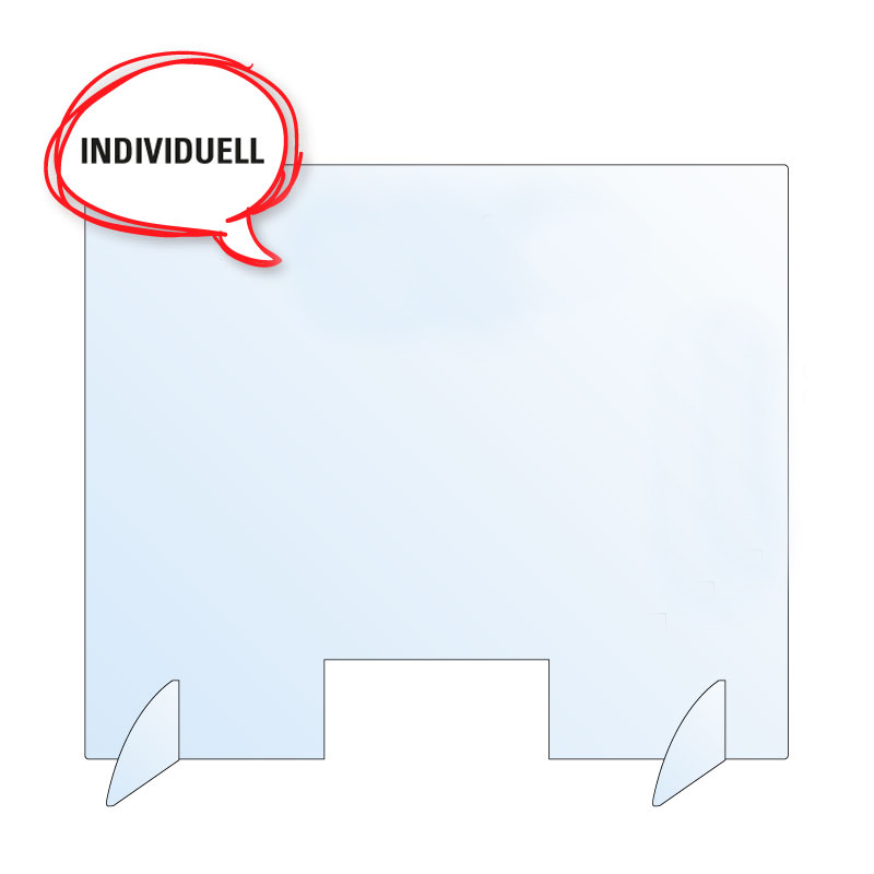 "Schutzwand / Hygienewand / Spuckschutz ""individuell - groß"""
