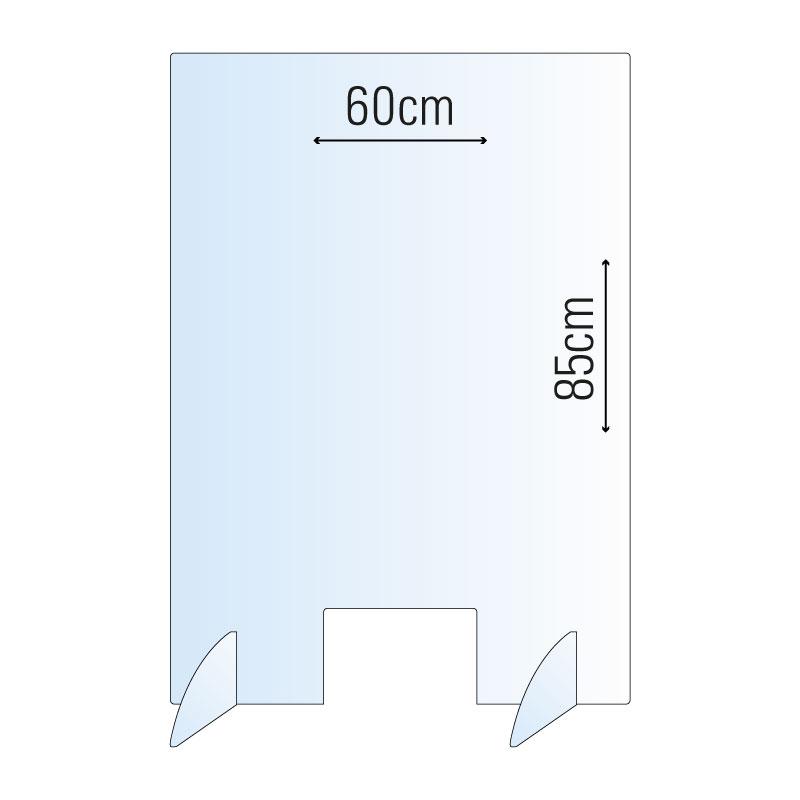 Schutzwand / Hygienewand / Spuckschutz 60x85cm