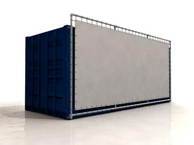 Bannersystem für Container