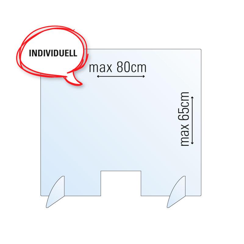 """Schutzwand / Hygienewand / Spuckschutz """"individuell -klein"""""""